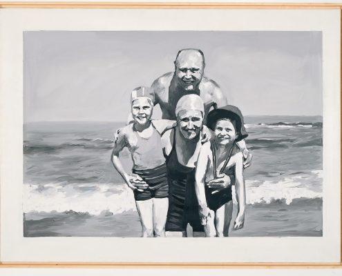 Gerhard Richter, Familie am Meer, 1964, Sammlung Ströher, © Gerhard Richter, 2009, Foto: Katalog