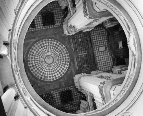 Kollegienkirche Salzburg, Kuppelansicht, Foto: Bernhard Leitner, Wien