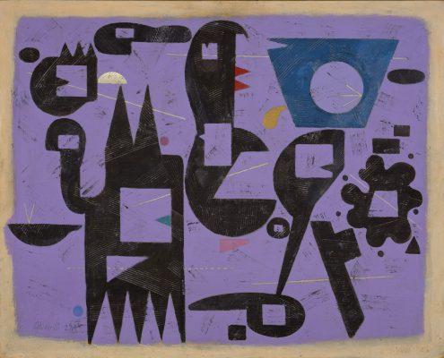 Willi Baumeister, Dialog Rot-Blau, 1951, Sammlung Ströher, Darmstadt © VG Bild-Kunst, Bonn 2014