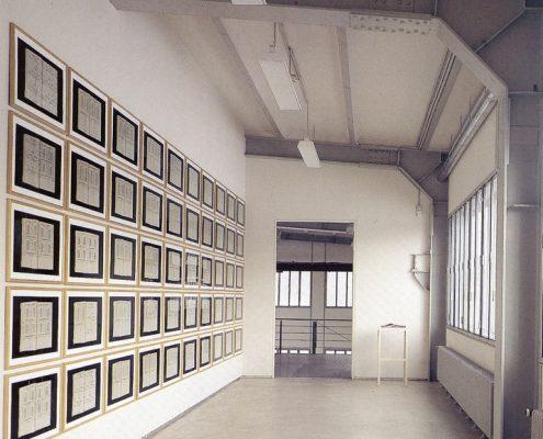 Hanne Darboven, Soll und Haben / Welttheater ´79, Installarionsansicht, Zeche Zollverein, 1996 © Stiftung für Kunst und Kultur