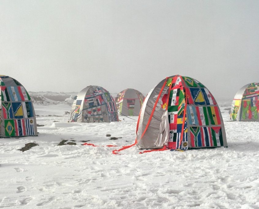 Lucy + Jorge Orta, Antarctic Village - No Borders, 2007